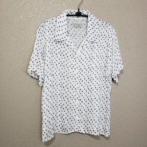 Urban Outfitters Asterisk Button-up Cropped Blouse